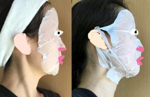 ダイソー 圧縮フェイスマスク 耳にかけるタイプ