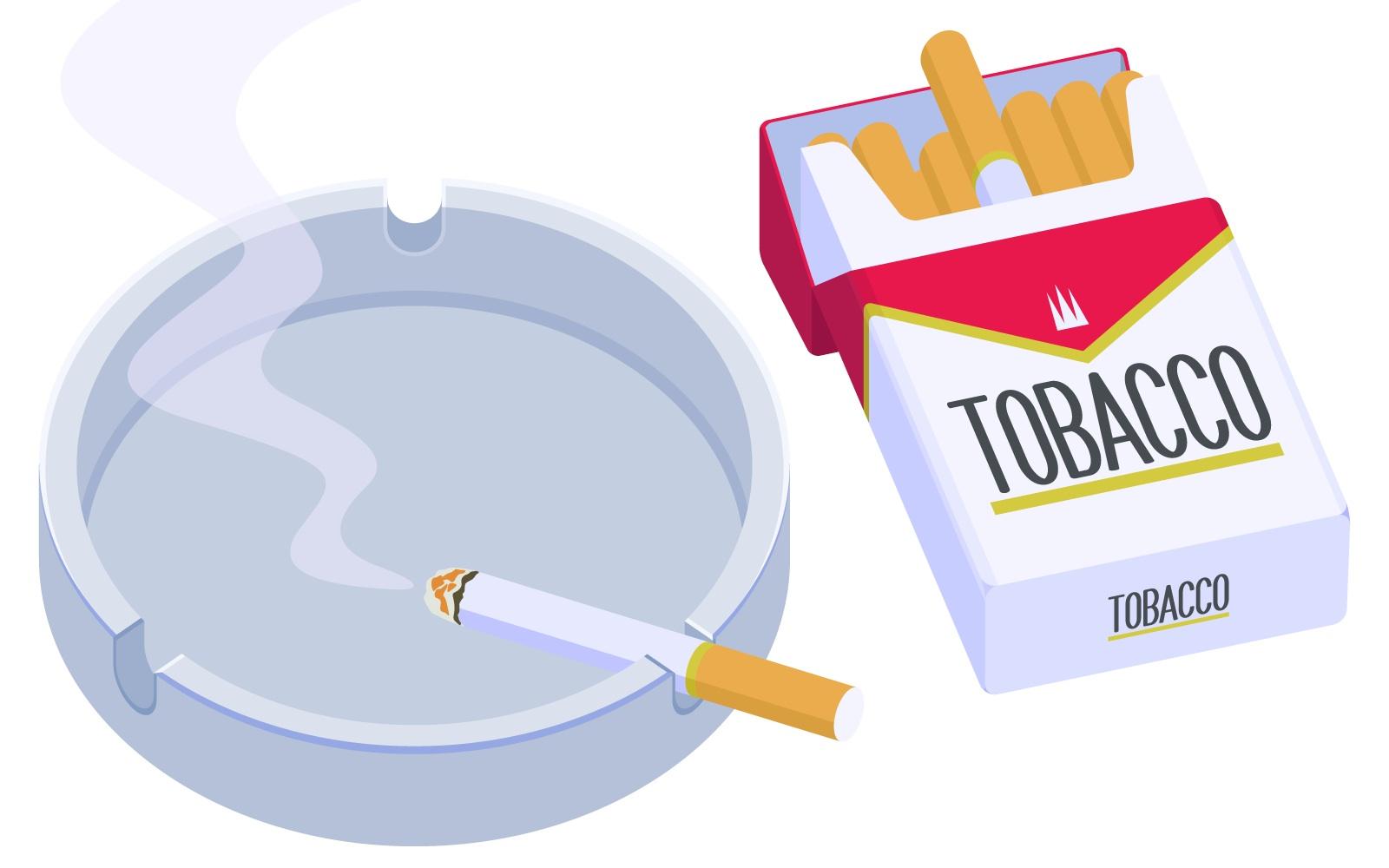 タバコの臭いの原因
