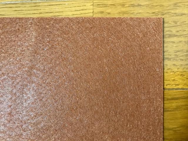 ダイソーの床の傷防止フェルトシール