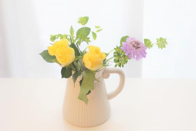 花の定期便がポストに届くサービス